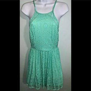 NWT Juniors' 3 Jodi Kristopher Halter Eyelet Dress